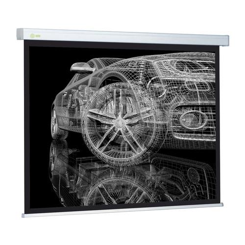 Фото - Экран CACTUS Wallscreen CS-PSW-213x213, 213х213 см, 1:1, настенно-потолочный белый кеды мужские vans ua sk8 mid цвет белый va3wm3vp3 размер 9 5 43