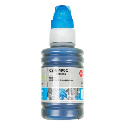 Чернила CACTUS CS-GI490C, для Canon, 100мл, голубой