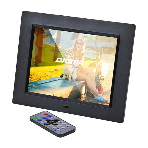 Фото - Цифровая фоторамка DIGMA PF-833, 8, черный [pf833bk] видео