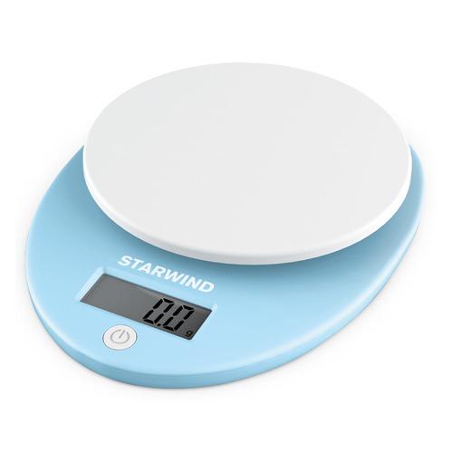 Весы кухонные STARWIND SSK2256, голубой весы кухонные 5кг механические пластик