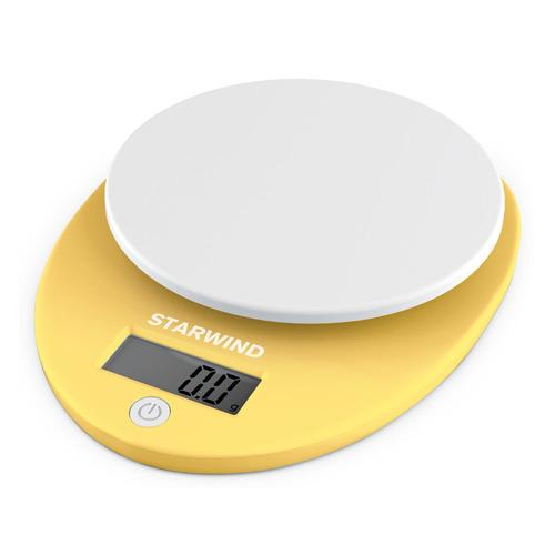 Весы кухонные STARWIND SSK2259, желтый весы кухонные 5кг механические пластик