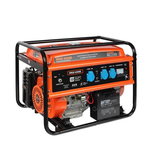 Фото - Бензиновый генератор PATRIOT SRGE 6500E, 220 В, 5.5кВт [474103171] генератор бензиновый patriot max power srge 6500e