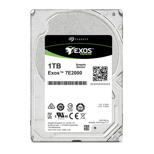 Жесткий диск SEAGATE Exos ST1000NX0313, 1Тб, HDD, SATA III, 2.5