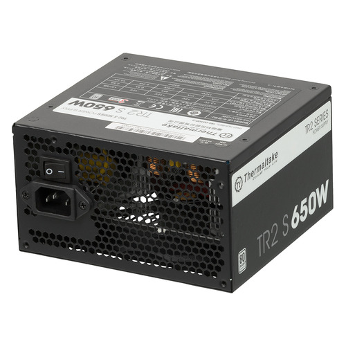 Блок питания Thermaltake TR2 S, 650Вт, 120мм, черный, retail [ps-trs-0650npcweu-2]