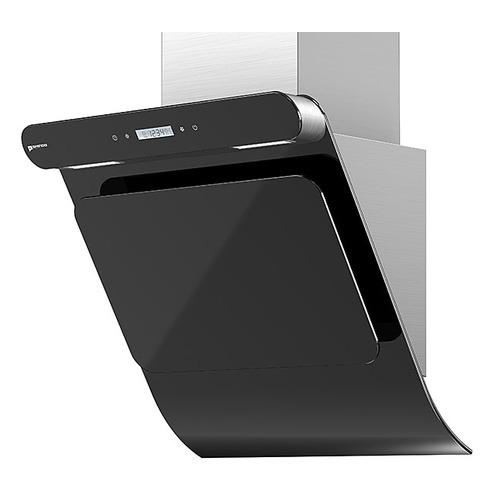 Вытяжка каминная Shindo Arktur 60 B/BG 3ETC нержавеющая сталь/черное стекло управление: сенсорное (1 цена и фото