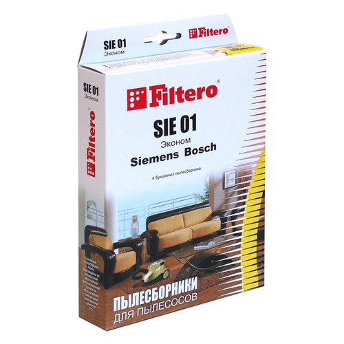 цена на Пылесборники FILTERO SIE 01 Эконом, бумажные, 4
