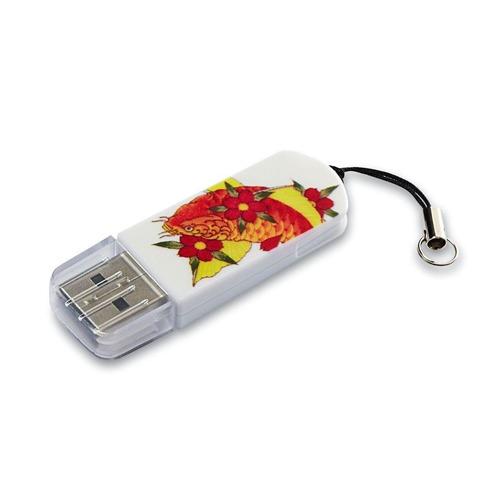 Фото - Флешка USB VERBATIM Mini Tattoo Koi 32Гб, USB2.0, белый и рисунок [49897] кеды мужские vans ua sk8 mid цвет белый va3wm3vp3 размер 9 5 43