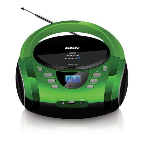 цена на Аудиомагнитола BBK BX165BT, зеленый и черный