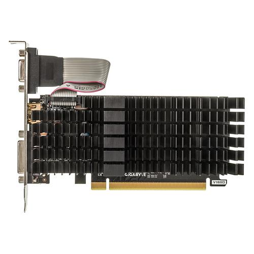 Видеокарта GIGABYTE nVidia GeForce GT 710 , GV-N710SL-1GL, 1Гб, DDR3, Low Profile, Ret цена