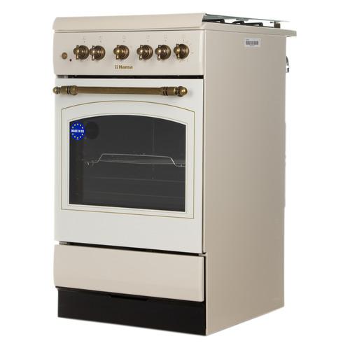 Газовая плита HANSA FCGY52109, газовая духовка, слоновая кость