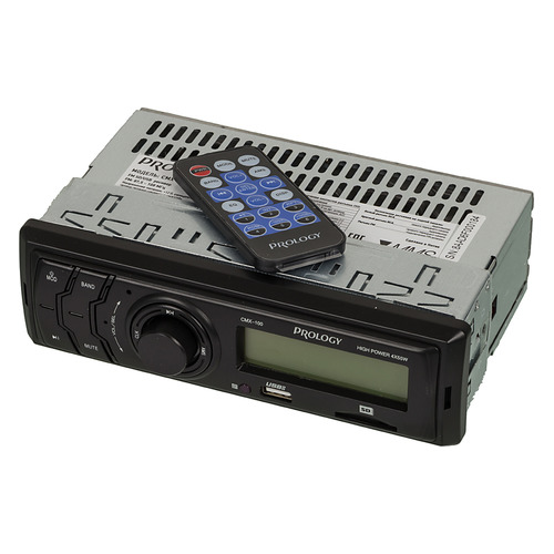 Автомагнитола PROLOGY CMX-100, USB, SD/MMC автомагнитола prology cmx 100 1din
