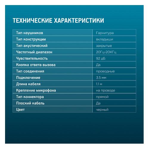 Наушники с микрофоном OKLICK HS-S-220, 3.5 мм, вкладыши, черный [d2] наушники с микрофоном oklick hs l100 черный красный 2м мониторы оголовье no 530