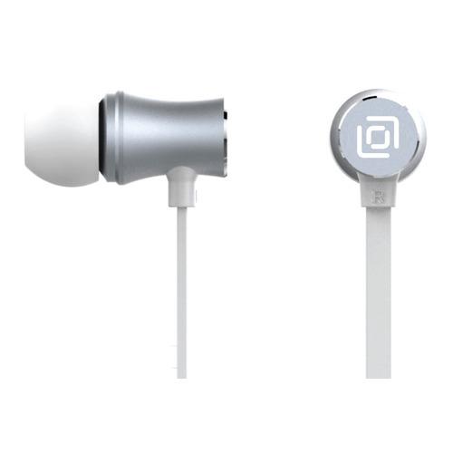 Наушники с микрофоном OKLICK HS-S-310, 3.5 мм, вкладыши, серебристый [d6]