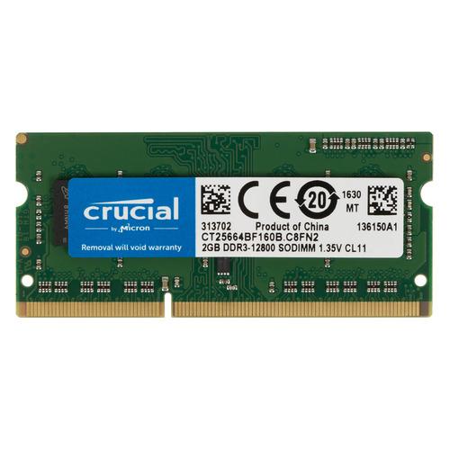 цена Модуль памяти CRUCIAL CT25664BF160B DDR3L - 2ГБ 1600, SO-DIMM, Ret онлайн в 2017 году