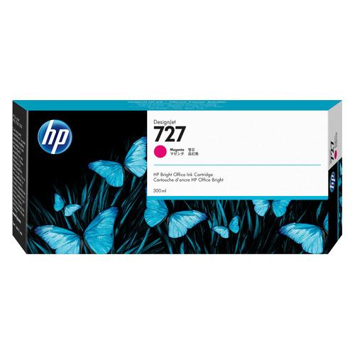 Картридж HP 727, пурпурный / F9J77A картридж струйный hp 727 f9j79a фото черный 300мл для dj t1500 t1530 t2500 t2530 t920 t930