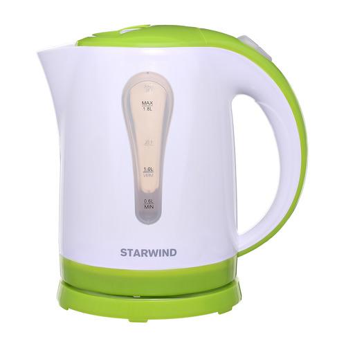 Чайник электрический STARWIND SKP2215, 2200Вт, белый и зеленый чайник starwind skg2213 зеленый