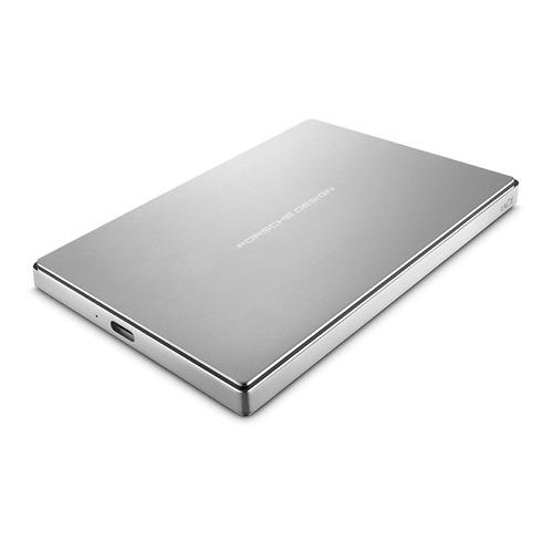 Внешний жесткий диск LACIE Porsche Design Mobile STFD1000400, 1Тб, серебристый