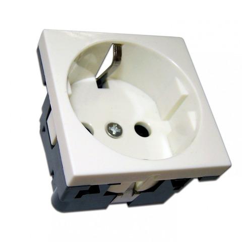 Розетка Lanmaster NM-EL45X45-WH настенная встраиваемая 45x45x41мм без крышки Mosaic белый