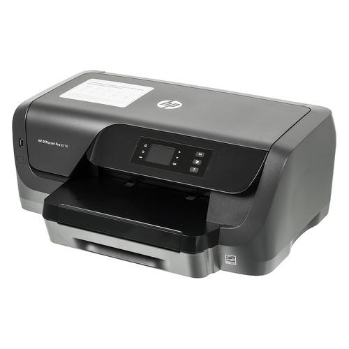 Фото - Принтер струйный HP Officejet Pro 8210, черный [d9l63a] принтер струйный hp officejet pro 6230 e3e03a a4 duplex wifi usb rj 45 черный