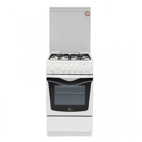 Газовая плита DE LUXE 506040.00гэ чр., электрическая духовка, белый цена