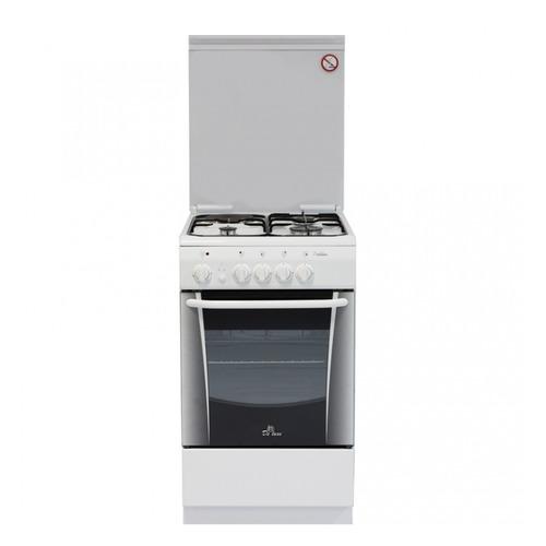 Газовая плита DE LUXE 506031.01гэ, электрическая духовка, белый газовая плита de luxe 506040 05г газовая духовка белый