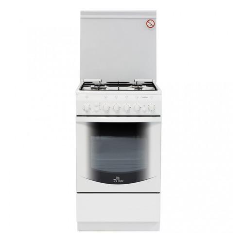 Газовая плита DE LUXE 5040.31г(кр) ЧР, газовая духовка, белый газовая плита de luxe 506040 05г газовая духовка белый