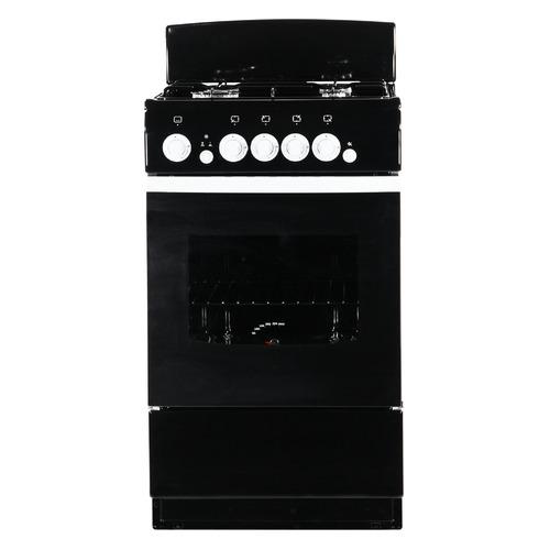 Газовая плита DE LUXE 5040.36г, газовая духовка, черный [5040.36г черн] газовая плита de luxe 506040 05г газовая духовка белый