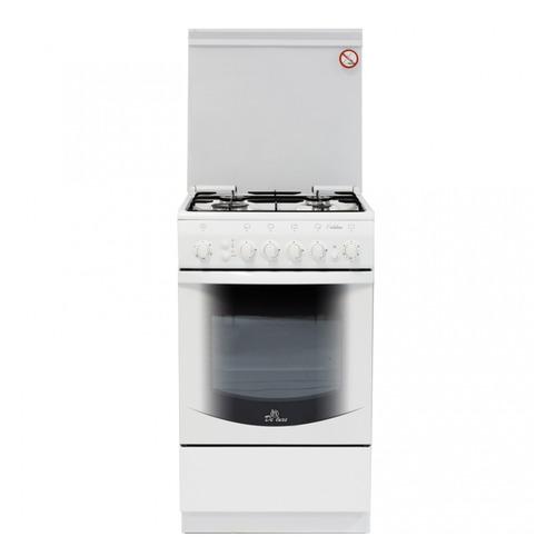 Газовая плита DE LUXE 5040.41г ЧР, газовая духовка, белый газовая плита de luxe 506040 05г газовая духовка белый