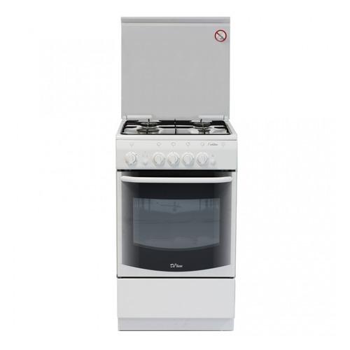 Газовая плита DE LUXE 5040.44г (кр) ЧР, газовая духовка, белый газовая плита de luxe 506040 05г газовая духовка белый