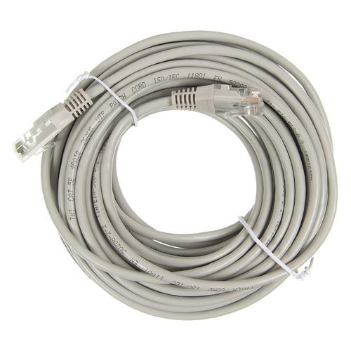 Патч-корд Lanmaster UTP (TWT-45-45-10-GY) вилка RJ-45-вилка RJ-45 кат.5е 10м серый ПВХ (уп.:1шт) кабель патч корд lanmaster вилка rj 45 вилка rj 45 кат 5е пвх 0 3м серый [twt 45 45 0 3 gy]
