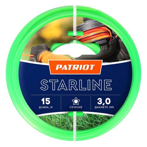Леска для садовых триммеров PATRIOT Starline, 3.0мм, 15м [805201066] леска для триммера patriot starline 1 6mm x 15m 805205007
