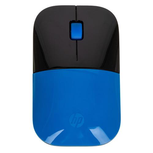 Мышь HP z3700, оптическая, беспроводная, USB, синий и черный [v0l81aa] мышь беспроводная hp 200 silk золотистый чёрный usb 2hu83aa