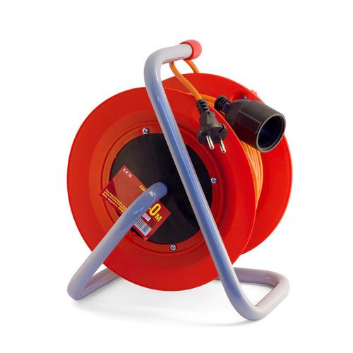 Удлинитель силовой LUX К1-Е-50 (22150) 3x0.75кв.мм 1розет. 50м ПВС 10A катушка