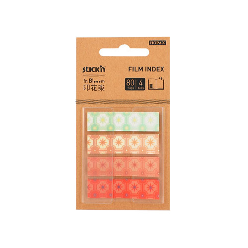 Закладки самокл. индексы пластиковые Stick`n 28122 45x12мм 4цв.в упак. 20лист с рисунками Z-сложение 24 шт./кор. цена и фото