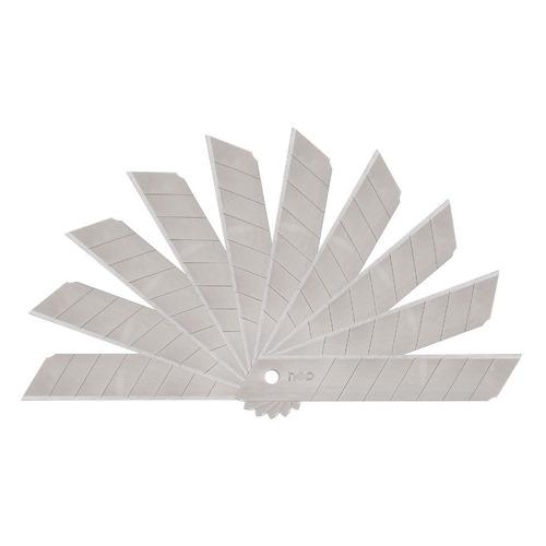 цена на Лезвия для канцелярского ножа Deli E2011 шир.лез.18мм сталь (упак.:10шт) пласт.кор. 20 шт./кор.