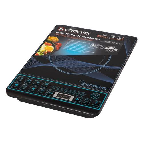 Фото - Плита Электрическая Endever Skyline IP-28 черный закаленное стекло (настольная) плита электрическая endever skyline dp 45 серебристый закаленное стекло настольная