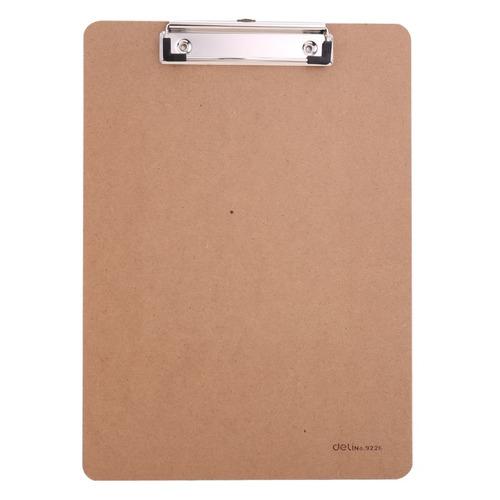 купить Папка клип-борд Deli E9226 A4 древесная плита бежевый 24 шт./кор. дешево