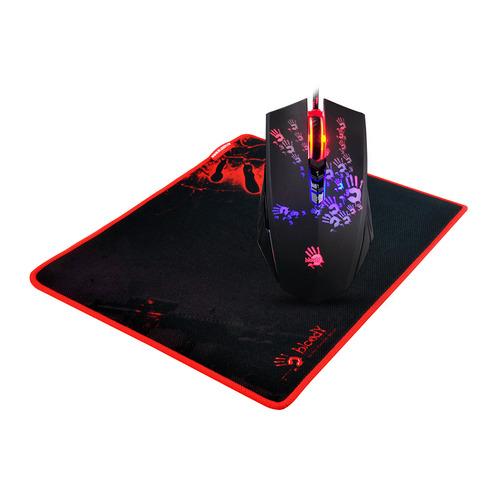 цена на Мышь A4 Bloody A6081, игровая, оптическая, проводная, USB, черный и Tattoo [a60+b-081]
