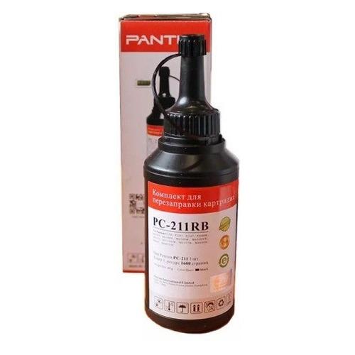 Тонер PANTUM PC-211RB, для Series P2200/2500/M6500/6550/6600, черный, флакон, чип