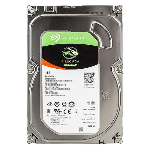 Жесткий диск SEAGATE Firecuda ST1000DX002, 1Тб, гибридный HDD/SSD, SATA III, 3.5