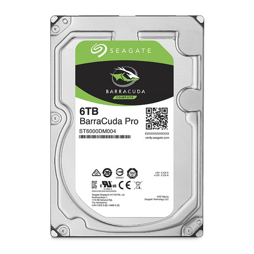 Жесткий диск SEAGATE Barracuda Pro ST6000DM004, 6Тб, HDD, SATA III, 3.5 жесткий диск seagate barracuda st4000dm004 4тб hdd sata iii 3 5
