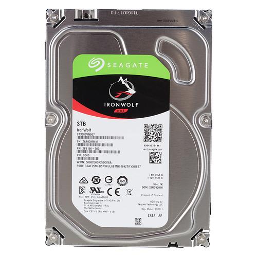 Жесткий диск SEAGATE Ironwolf ST3000VN007, 3ТБ, HDD, SATA III, 3.5 жесткий диск seagate ironwolf 3 tb st3000vn007