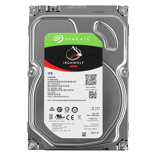 "Жесткий диск SEAGATE Ironwolf ST4000VN008, 4Тб, HDD, SATA III, 3.5"" жесткий диск seagate barracuda st4000dm004 4тб hdd sata iii 3 5"