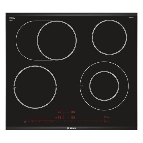 Варочная панель BOSCH PKN675DK1D, Hi-Light, независимая, черный