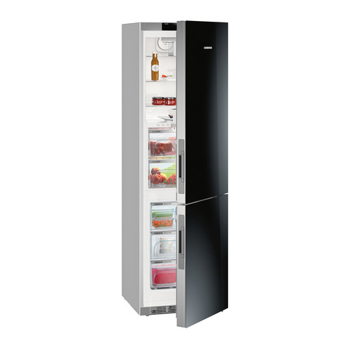 лучшая цена Холодильник LIEBHERR CBNPgb 4855, двухкамерный, черное стекло