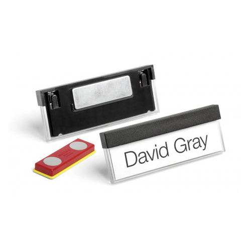 Бейдж Durable 8505-01 Select 17x67мм горизонт. магнитный черный (упак.:25шт) цена 2017