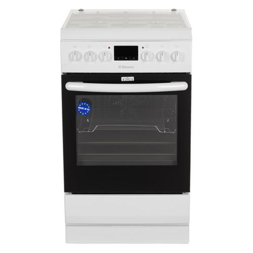 Газовая плита HANSA FCMW58240, электрическая духовка, белый