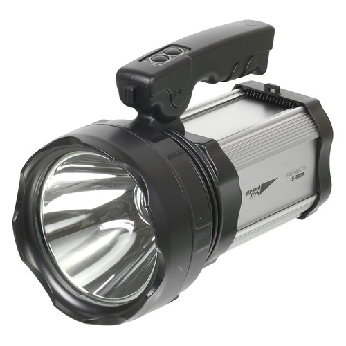 Аккумуляторный фонарь ЯРКИЙ ЛУЧ S-300A МЕГАВАТТ, черный , 10Вт цена