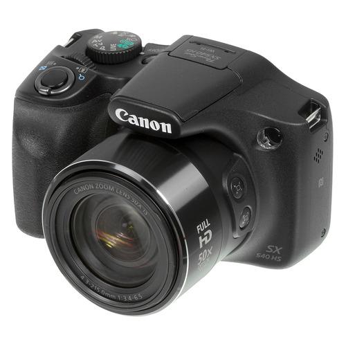Фото - Цифровой фотоаппарат CANON PowerShot SX540 HS, черный фотоаппарат canon powershot sx740 hs серебристый коричневый