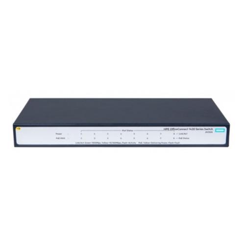 Фото - Коммутатор HPE OfficeConnect 1420 [jh330a] коммутатор hp 1420 jh330a коммутатор hp hpe 1420 8g poe 64w switch